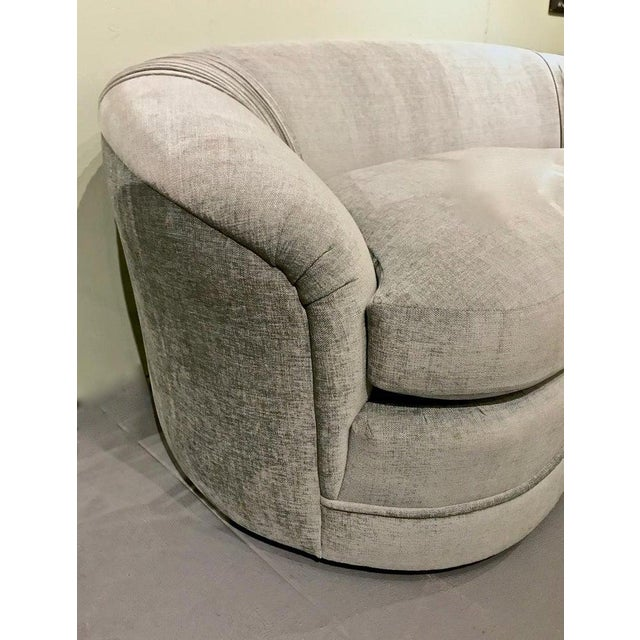 Contemporary Upholstered Curved Sofa