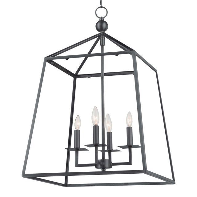 Cachet Lantern in Oil Rubbed Bronze For Sale