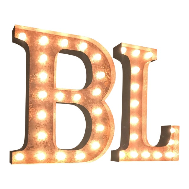 Vintage B & L Marquee Lights - A Pair - Image 1 of 5