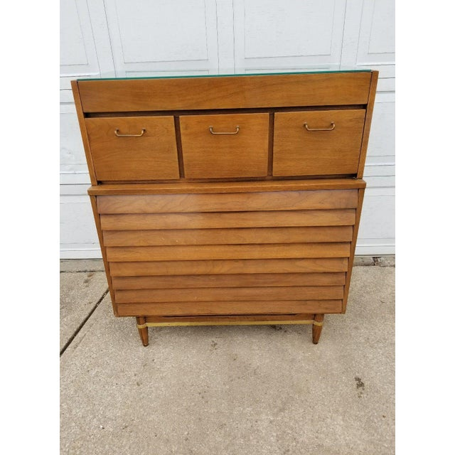 Vintage Merton Gershun for American of Martinsville Mid-Century Modern Chest of Drawers For Sale - Image 11 of 11