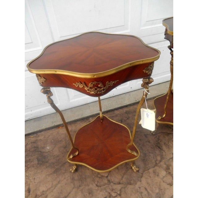 Nwt Vintage French Louis XVI Rococo Style Accent Table For Sale - Image 5 of 9