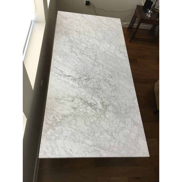 Restoration Hardware Torano Marble Dining Table Chairish - Restoration hardware marble dining table