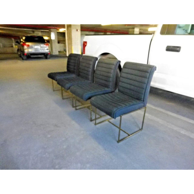 Metal 1970's Mid-Century Modern Milo Baughman Dining Chairs - Set of 4 For Sale - Image 7 of 13