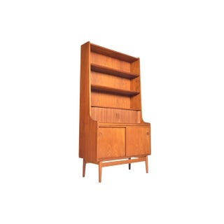 Danish Modern Teak Bookcase by Johannes Sorth For Sale
