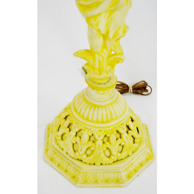 Vintage Figural Cast Metal Lamp - Image 5 of 10