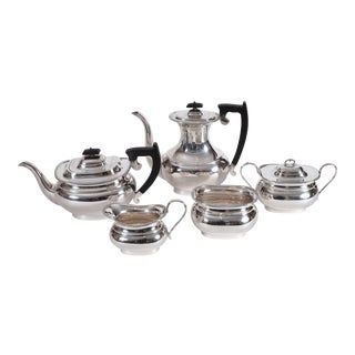 Vintage English Sheffield Sterling Silver Tea / Coffee Service - 5 Piece Set For Sale