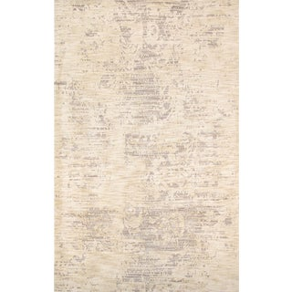 Modern Hand-Tufted Microfiber Rug - 5' X 8' For Sale