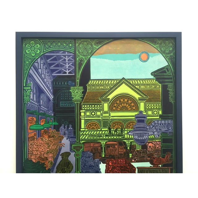 """This vintage 1965 John Griffiths lithograph print custom framed """" Covent Garden : Rhubarb and Roses """" rare collector's..."""
