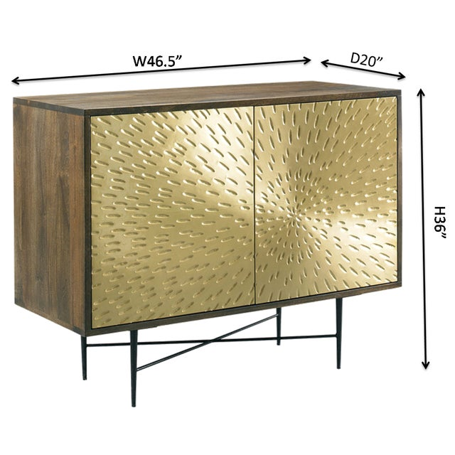 Contemporary Wooden Metal Living Room Cornell Chest Cabinet - Image 10 of 10