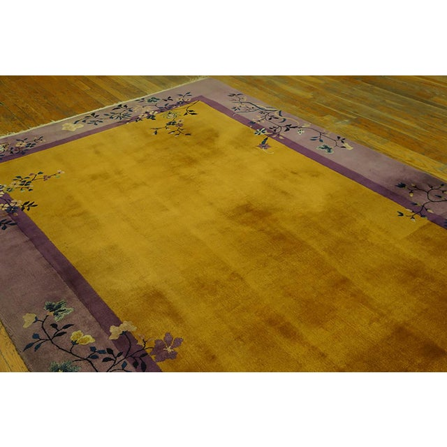 1920s Antique Chinese Art Deco Rug- 6′ × 8′8″ For Sale In New York - Image 6 of 7