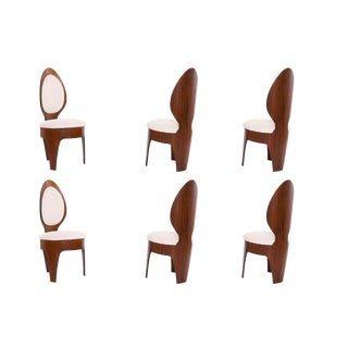1960s Vintage Henry Glass 'Spoon' Dining Chairs- Set of 6 For Sale
