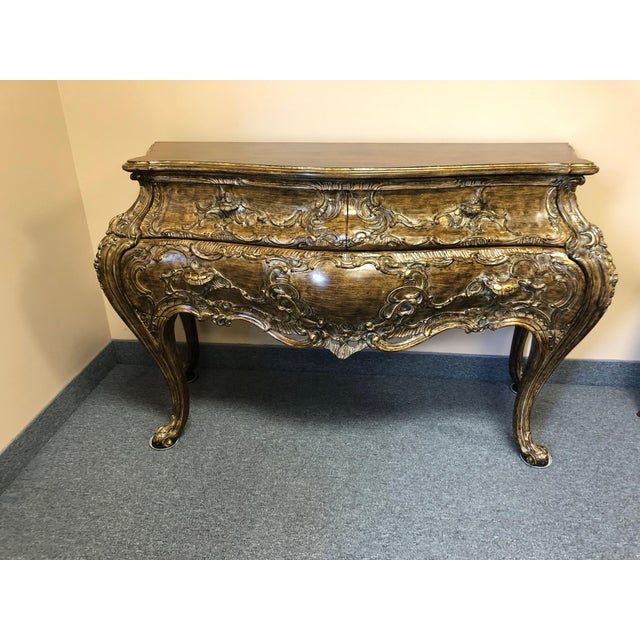 Italian Carved Giltwood Bombay Chest Commode For Sale - Image 13 of 13