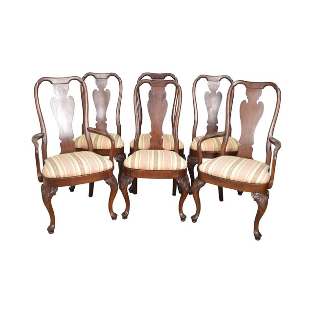 Cherry Wood Dining Room Furniture: Knob Creek Solid Cherry Wood Queen Anne Dining Chairs
