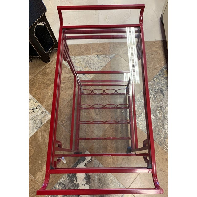 Metal Late 20th Century Art Deco Bar Cart For Sale - Image 7 of 9