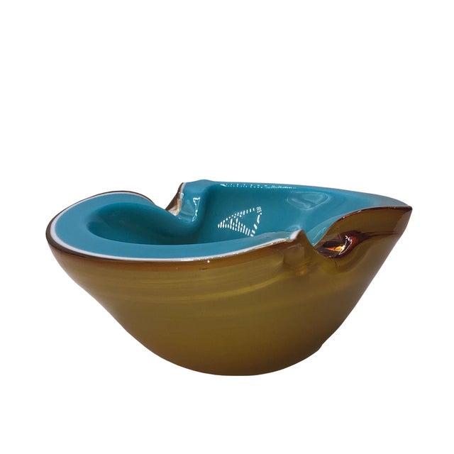 Mid-Century Modern Mid Century Murano Alfredo Barbini Art Glass Bowl For Sale - Image 3 of 6