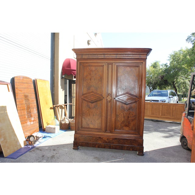 19th Century French Louis Philippe Walnut Armoire Period Chateau Circa 1850s - Image 10 of 11