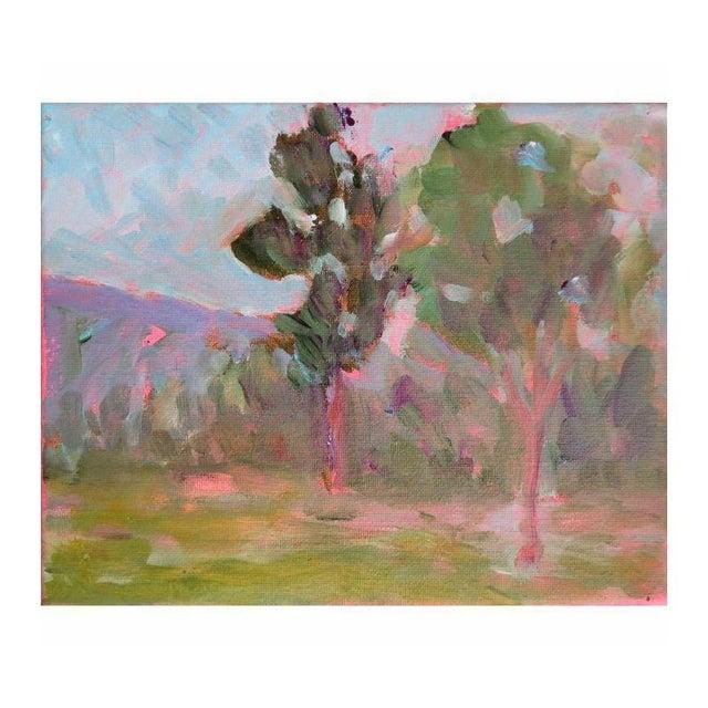 "Mary Houston Acrylic on Canvas ""Mountain Poplars"" - Image 1 of 2"