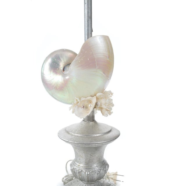 Silver Seashell Table Lamps - A Pair - Image 2 of 8