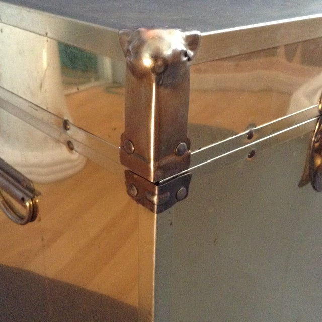 1970's Brass Clad Trunk - Image 6 of 7