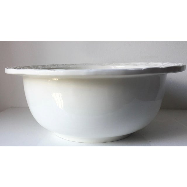 Neuwirth Italian Ceramic Basketweave Serving Bowl For Sale In New York - Image 6 of 10