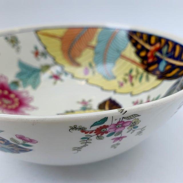 Ceramic Vintage Tobacco Leaf Fine China Medium Salads Serving Bowl For Sale - Image 7 of 13