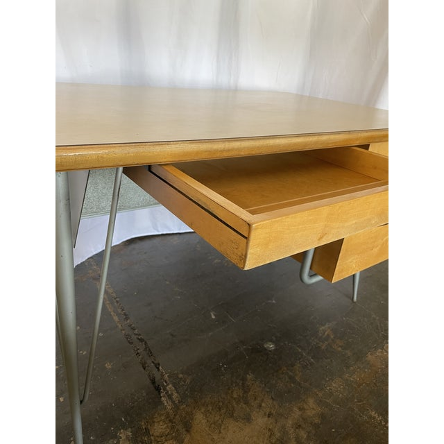 Metal 1950s Brunswick & Co Mid Century Writing Desk For Sale - Image 7 of 13
