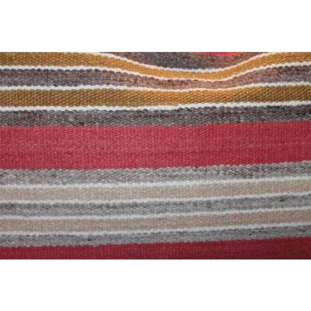 Adirondack Navajo Indian Handwoven Saddle Blanket Pillows For Sale - Image 3 of 3