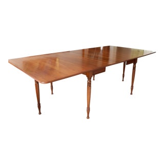 1950s Vintage Drop Leaf Pennsylvania House Solid Cherry Dining Table For Sale