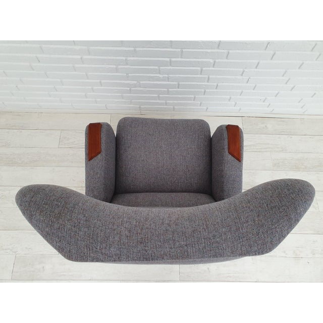 1970s Vintage Danish Lounge Chair For Sale - Image 11 of 13