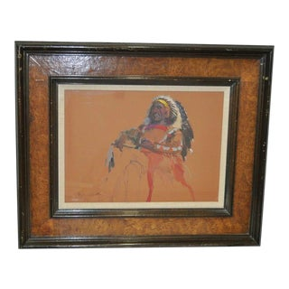 "Donald ""Putt"" Putman Indian Chief Original Painting For Sale"
