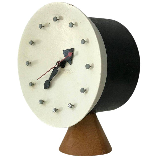 George Nelson & Irving Harper for Howard Miller Table Desk Clock, 1951, Works For Sale