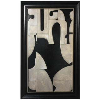 "Abstract Black & White Painting ""PDP715ct14"" by Cecil Touchon For Sale"
