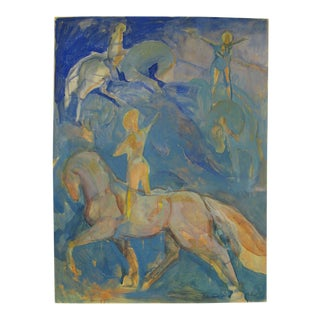 Yellow Horses Painting by Andrew Portwood For Sale
