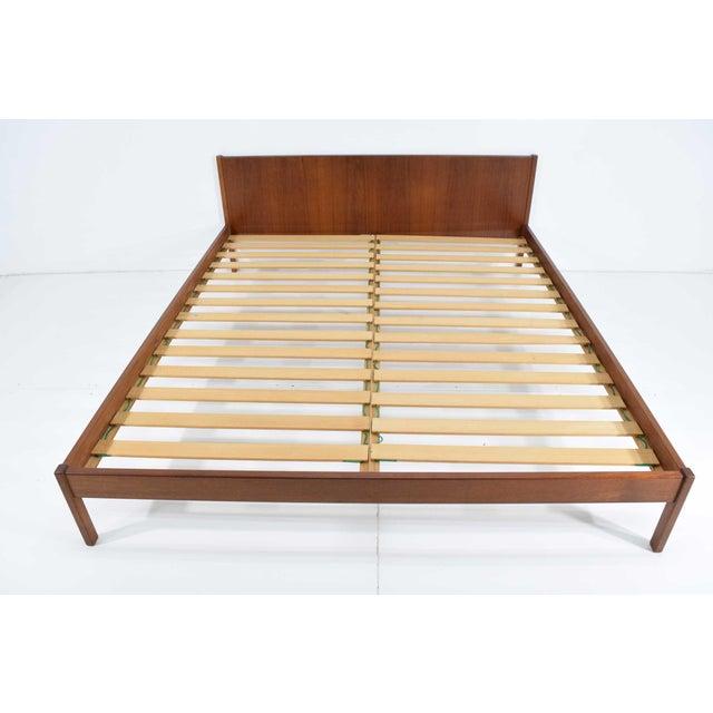 Danish Teak Queen Bed Frame For Sale - Image 9 of 10
