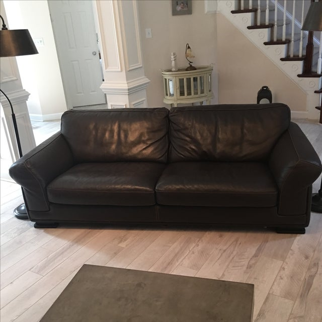 Roche Bobois Leather Sofa - Image 2 of 5