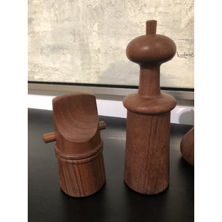 Mid-Century Modern Danish Salt and Pepper Shakers - Set of 6 Preview