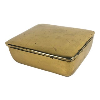 1950s Ben Seibel Mid Century Lidded Brass Box For Sale