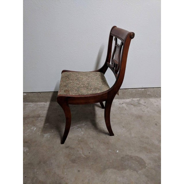 Americana 1940s Americana Lyre Dining Chairs - Set of 6 For Sale - Image 3 of 7