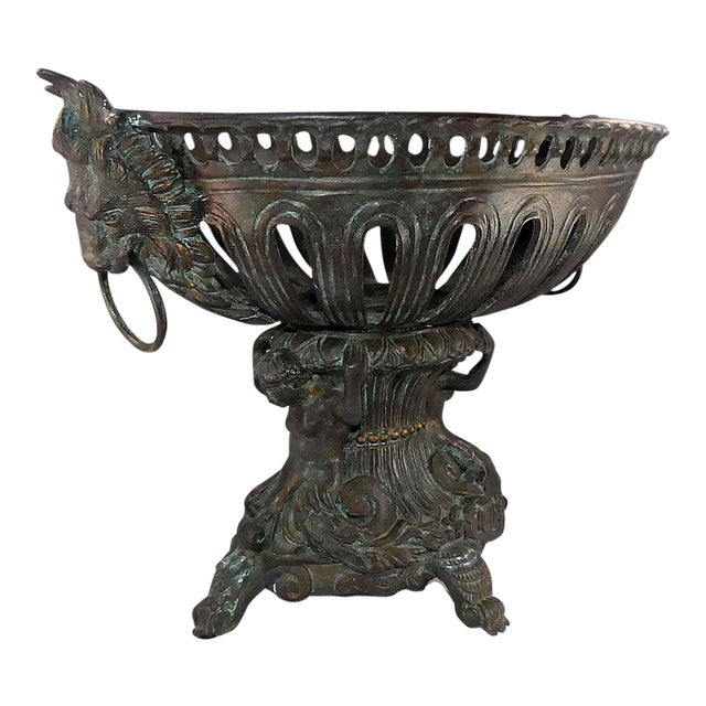 Maitland Smith Bronze Table Top Footed Urn Or Bowl