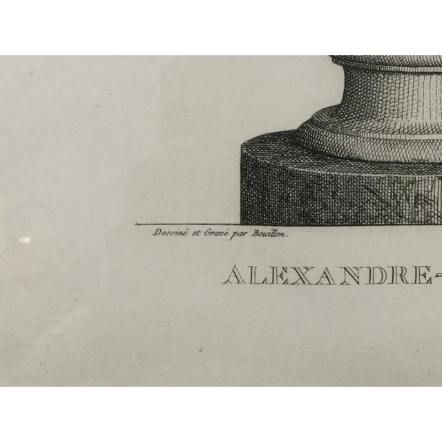 """Early 19th Century Early 19th Century """"Alexandre-Severe Mamme."""" Framed Engraving Print For Sale - Image 5 of 9"""