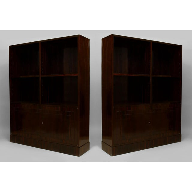 Pair Of French Art Deco Calamander Wood Bookcase For Sale - Image 4 of 4