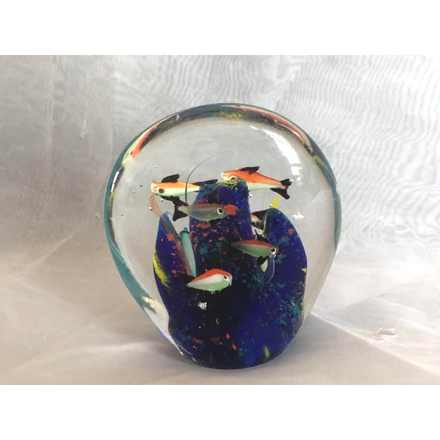 Mid-Century Murano Art Glass Aquarium Sculpture For Sale - Image 4 of 12