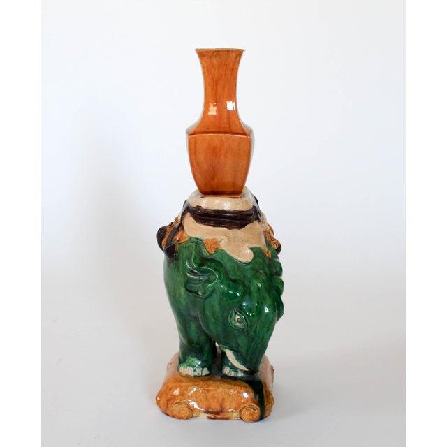 Vintage Elephant Figure Vase For Sale - Image 4 of 11