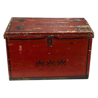 Antique American Folk Art Chest For Sale
