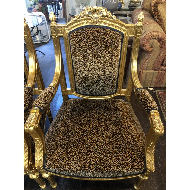 French French Louis Gold Gilt Chairs - a Pair For Sale - Image 3 of 10