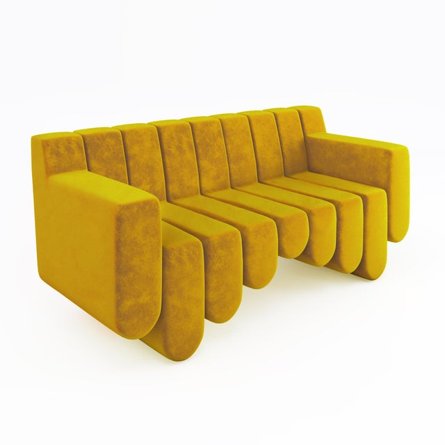 Animal Skin Sound Sofa by Artist Troy Smith - Contemporary Design - Custom Furniture - Limited Edition For Sale - Image 7 of 7