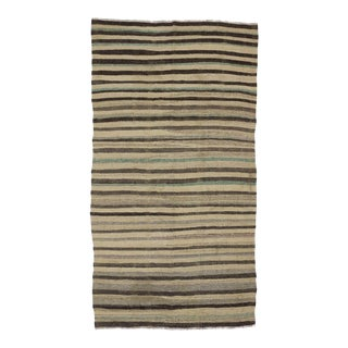 "Vintage Striped Kilim Rug - 5' x 8'4"" For Sale"