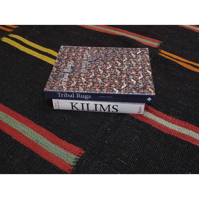 Large Kilim with Bright Stripes For Sale In New York - Image 6 of 9