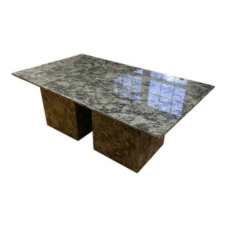 Danish Modern Solid Granite Coffee Table For Sale