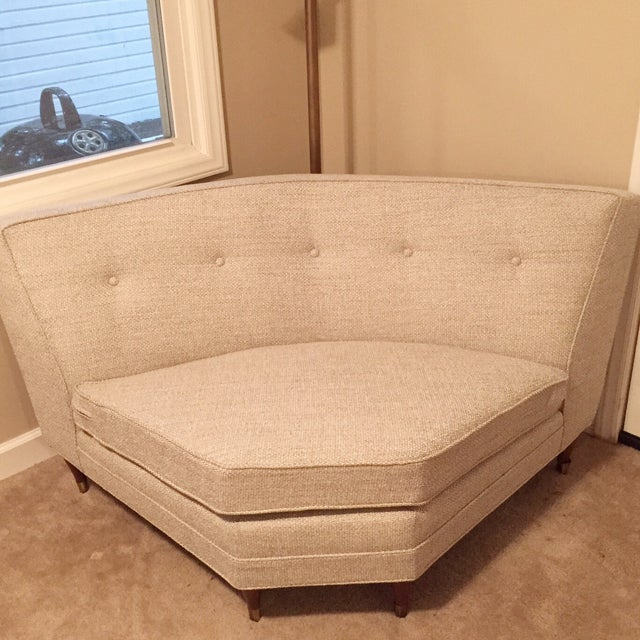 Vintage Mid-Century Sectional Sofa - Image 7 of 9